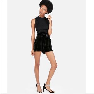 EXPRESS Super HighWaisted Velvet Shorts